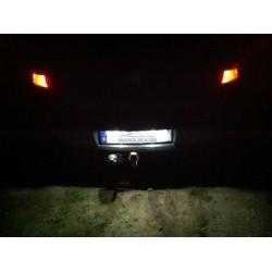 Pareja de bombillas LED canbus para matrícula festoon / c5w