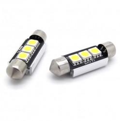 Coppia di lampadine a LED canbus per le lezioni festone / c5w