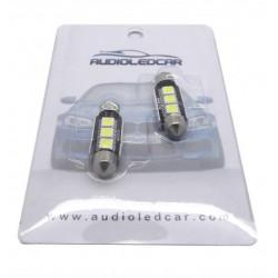 Paar LED-lampen canbus für nummernschild festoon / c5w