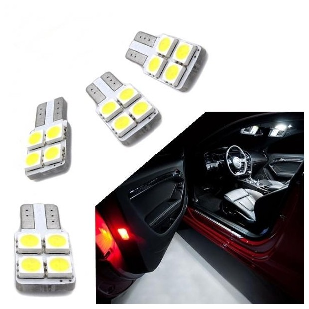 Kit de bombillas LED para puertas w5w / t10