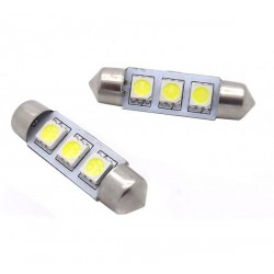 Paar LED-lampen für die sonnenblenden c5w / festoon