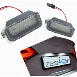 Plafones de matrícula LED Ford Fiesta MK VI (2009-2014)