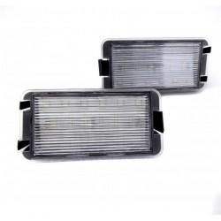 Plafones LED de matrícula para Renault Clio, Megane, Laguna y Twingo