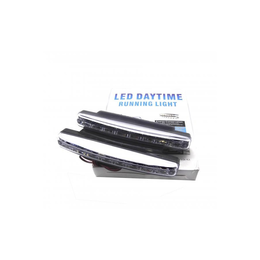 Zesfor luces diurnas de dia led alargadas tipo 1 drl led - Tipos de luces led ...