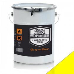 La peinture de vinyle liquide Jaune Mate (4 litres)