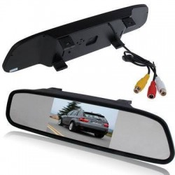 Rearview mirror with colour display