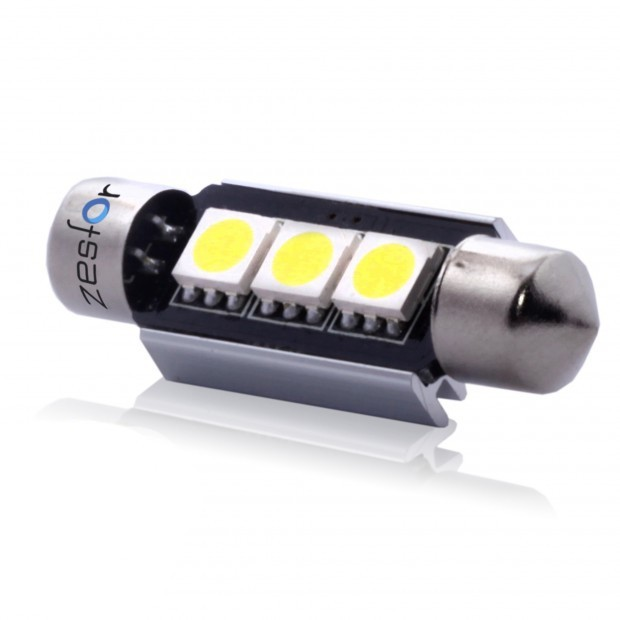 ZesfOr® Bombilla LED c5w Can Bus 39 mm, 3 SMD Brillant - TIPO 16