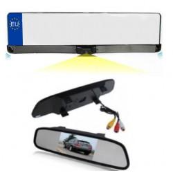 Support de plaque avec caméra et de capteurs de stationnement