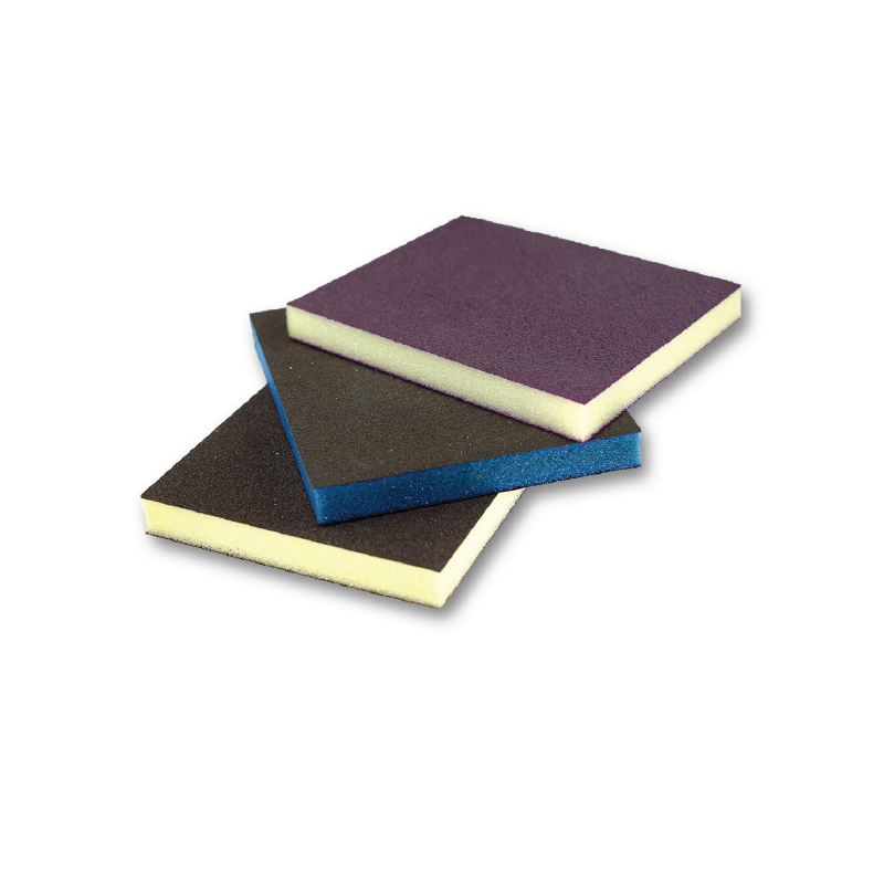 Abrasive sponge double-sided