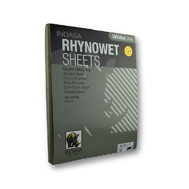 Feuille de papier abrasif à l'eau Rhynowet Ligne Blanche 230x280 mm