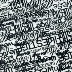 Foglio Hidroimpresión lettere