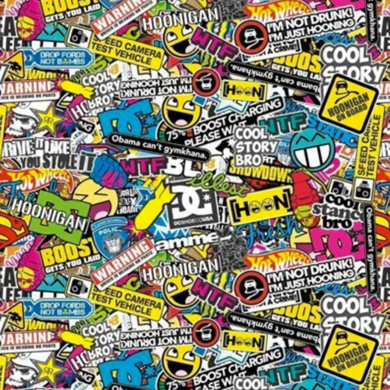 folie Sticker Bomb hidroimpresión