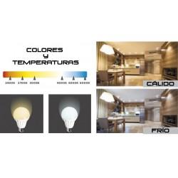 Bombilla LED E14, 9 Watios y 720 lúmenes | KDE Espiral Design