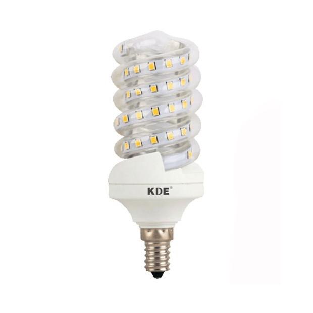 LED bulb E14, 9 Watt, 720 lumens | KDE-Spiral Design