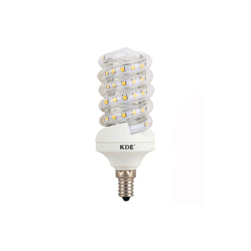 Ampoule LED E14, 9 Watt, 720 lumens   KDE-Conception en Spirale