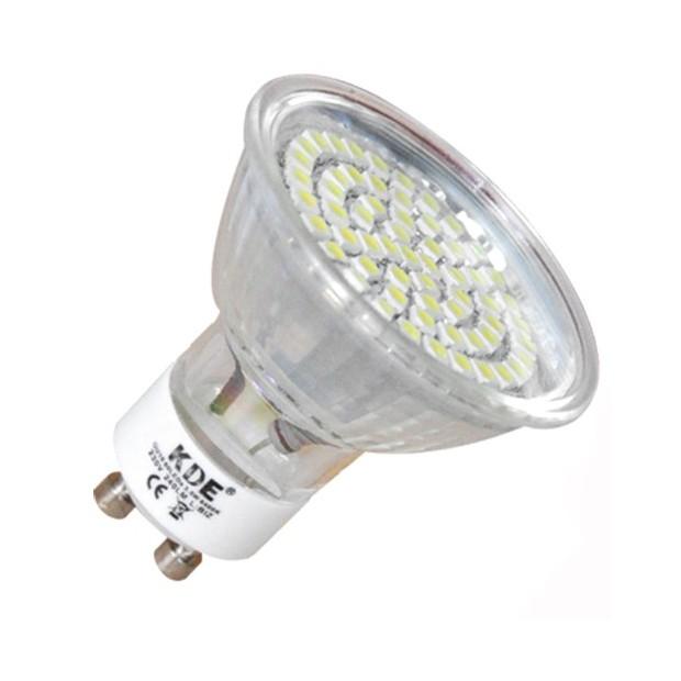 LED-lampe GU10, 3 Watt und 220 lumen | KDE economiq - AUDIOLEDCAR
