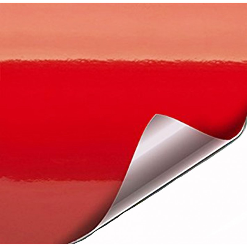 vinilo rojo brillo techo coche