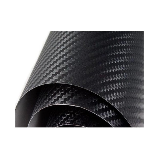 Vinyl Kohlefaser-Schwarz Normal 300x152cm