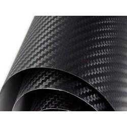 Vinil de fibra de carbono preto normal 1500x152cm
