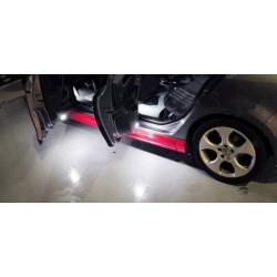 Plafones LED para puertas delanteras Volkswagen Golf Passat Jetta Scirocco Sharan Touareg SuperB