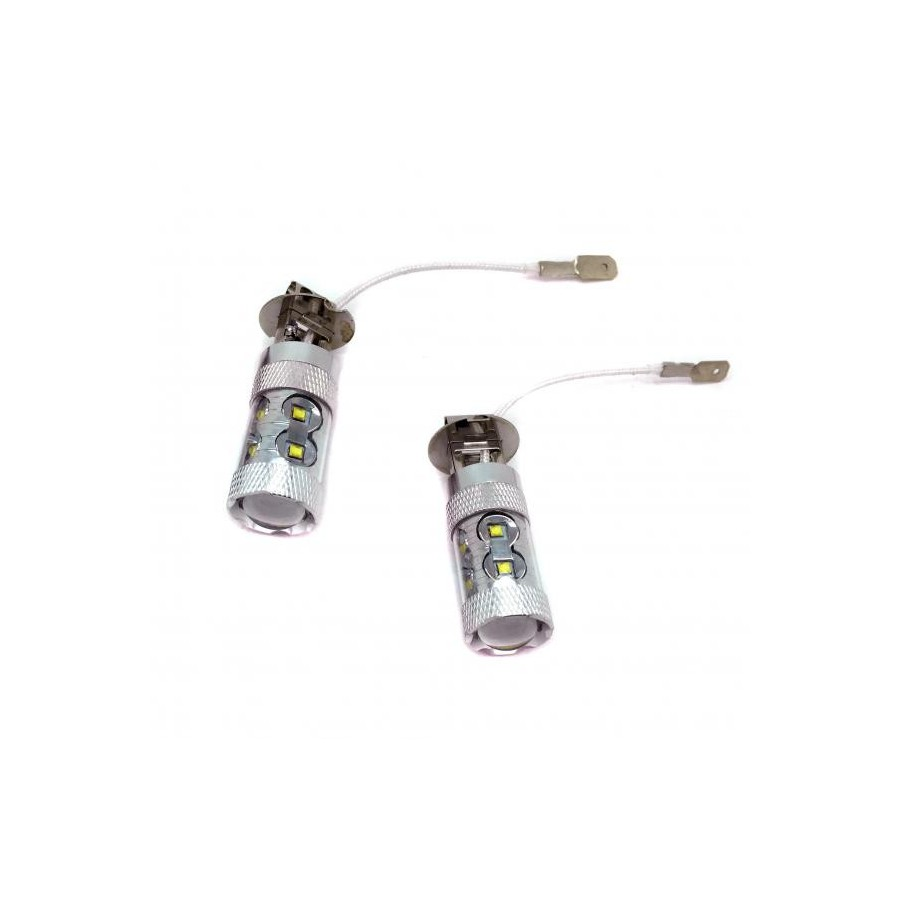 Kit di lampadine a led h3 60 watt canbus audioledcar for Lampadine led 3 watt