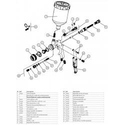 Pistole aerográfica für vinyl-flüssigkeit ACOE 100-E