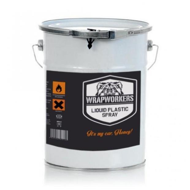 La peinture de vinyle liquide Orange Fluor (4 litres)