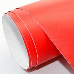 Rotes vinyl, Matt-25 x 152 cm