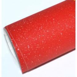 Vinyle Rouge Paillettes 25 x 152 cm