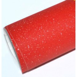 Vinyle rouge Paillettes 75 x 152 cm