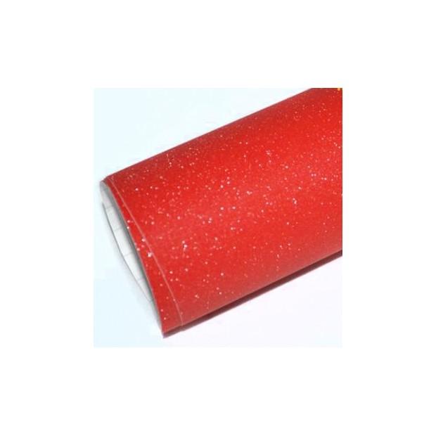 Red vinyl Glitter 100 x 152 cm