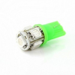 Lâmpada LED verde w5w / t10 - tipo 55