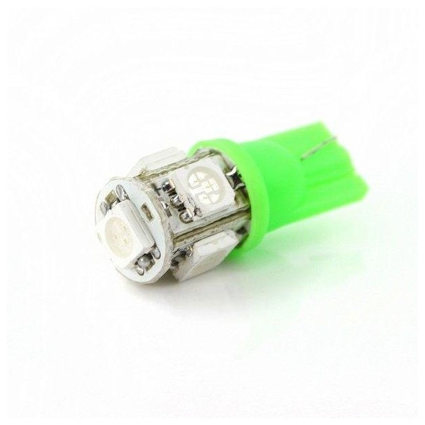 Light bulb GREEN LED w5w / t10 - TYPE 55