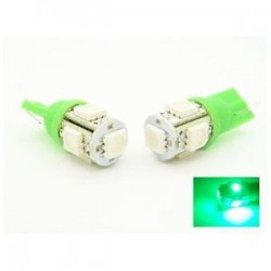 Lampadina LED VERDE LED w5w / t10 - TIPO 55