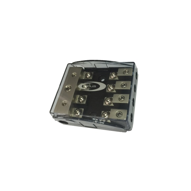 Dealer with fuse holder AFC 3 entries 21 mm 4 outputs, 10mm
