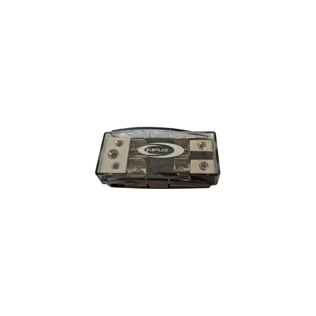 Rivenditore con portafusibile AGU 2 voci 21mm, 1 ingresso di 35 mm, 2 uscite a 16 mm
