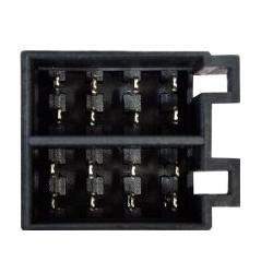 Conector ISO macho, altavoces y alimentacion