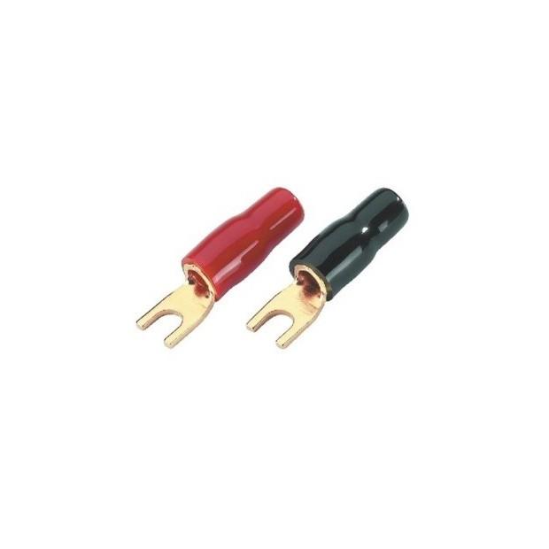 Terminais planos de 4,3 mm para cabo de 6 mm (10 unidades)
