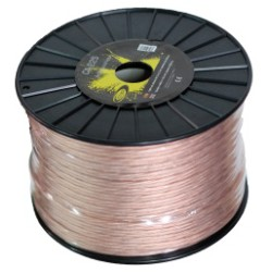 Cable, speaker 2x1,5 mm Spool 100 mts