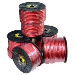 Cable alimentación rojo 10 mm. Bobina 50 mts