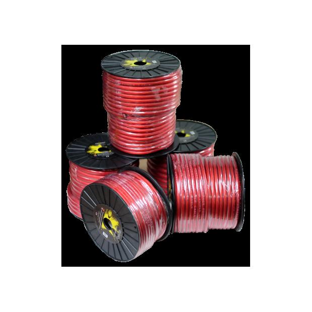 Câble d'alimentation rouge 20 mm Bobine de 50 mètres