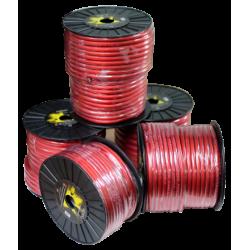 Cabo de alimentação vermelho 35 mm Bobina 25 mts