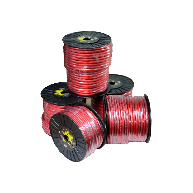 Cable power red 35 mm Reel 25 mts