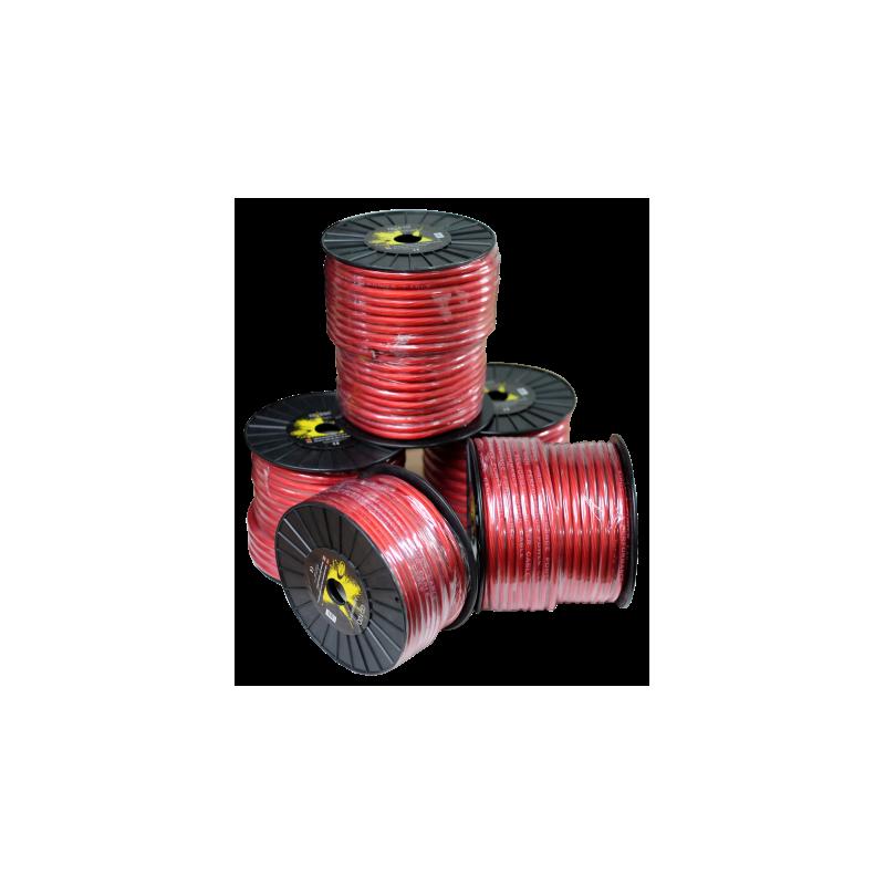 Cable alimentación rojo 35 mm. Bobina 25 mts
