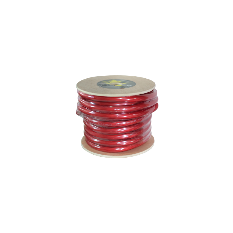 Cable puro OFC rojo de 20 mm. Bobina 20 mts