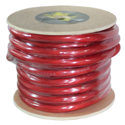 Cable puro OFC rojo de 50 mm. Bobina 15 mts