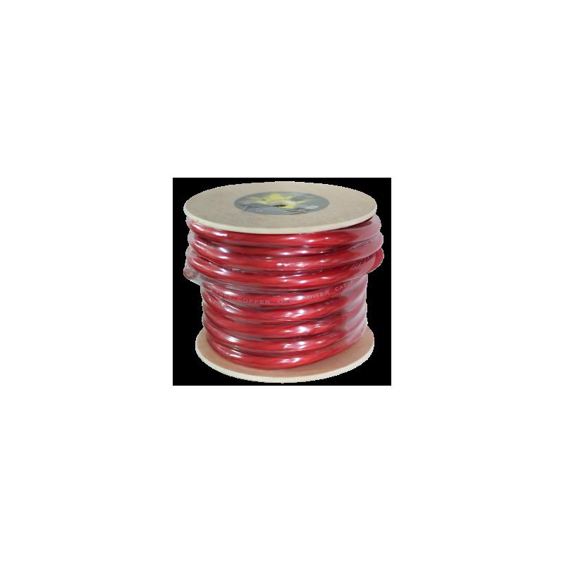 Kabel reines OFC-rot - 50 mm 15 m Spule