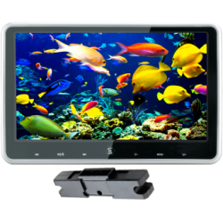 Monitor 10.1 inch with mounting bracket, headrest with DVD/USB/SD card, with touch keyboard