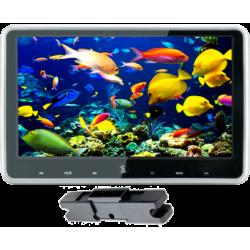 Monitor de 10,1 polegadas, com suporte para montagem em encostos de cabeça com DVD/USB/SD, com teclado sensível ao toque