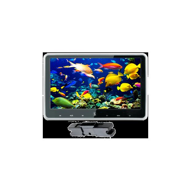 Monitor de 10,1 pulgadas con soporte para montaje en reposacabezas con DVD/USB/SD, con teclado táctil